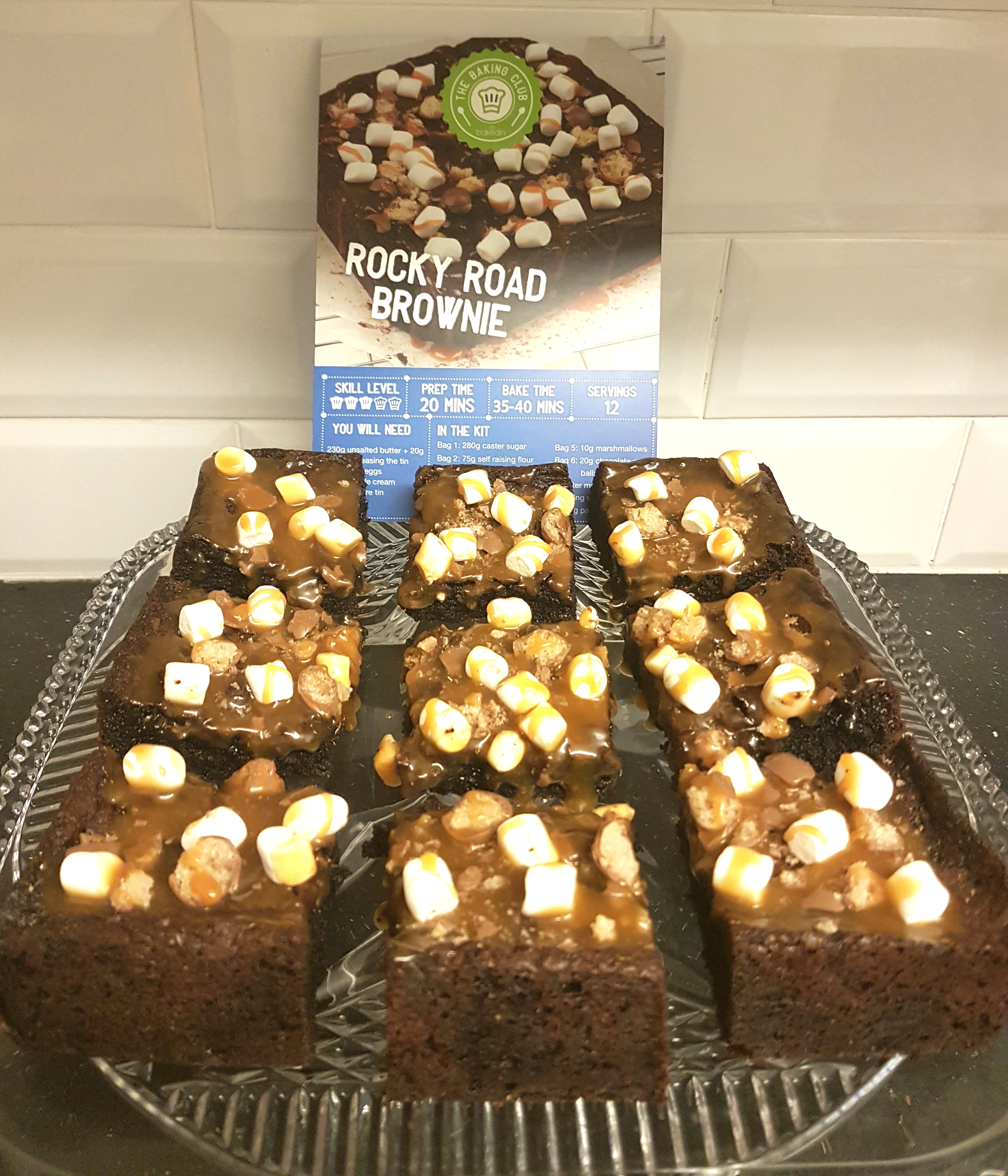 Rocky road brownies julys bakedin baking club box confarreo julys bakedin baking club box was a huuuuuuuuuuuge hit in my house everyones faces lit up when they saw the recipe card rocky road love forumfinder Images