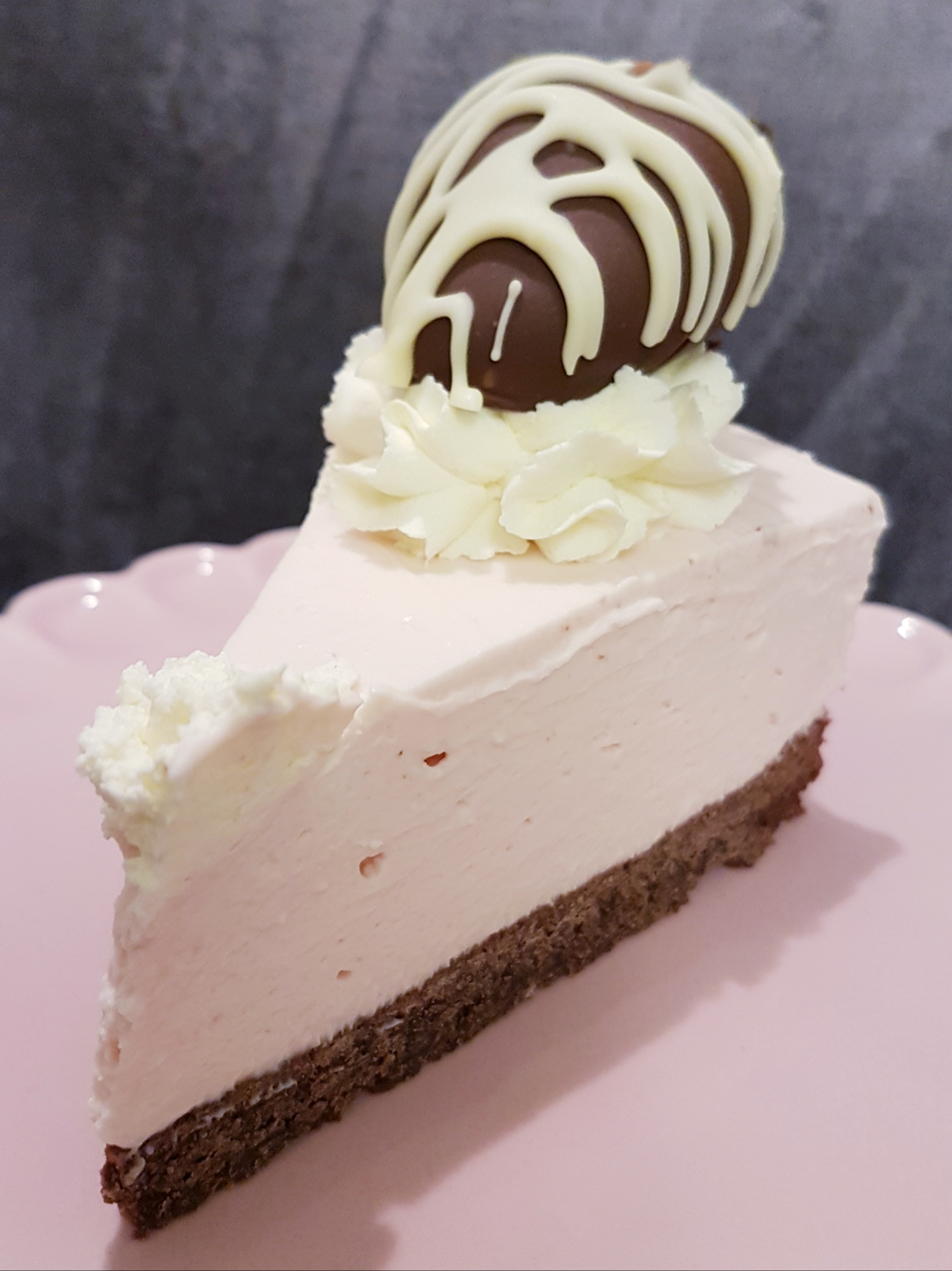 Chocolate Concrete And Pink Custard Cheesecake A School